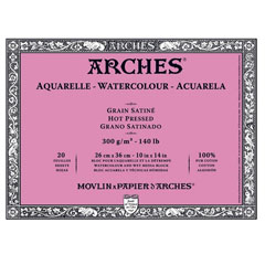 Blok ARCHES® Aquarelle Watercolour Hot Pressed - 26 x 36 cm