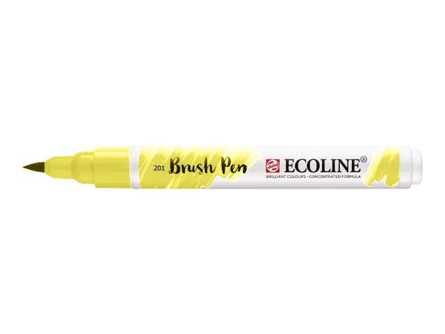 Akvarel marker Ecoline brush pen - Light Yellow 201