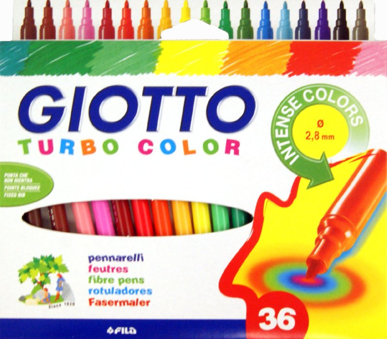 Flomasteri GIOTTO TURBO COLOR - 36 boja