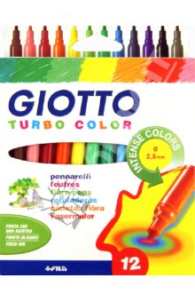 Flomasteri GIOTTO TURBO COLOR - 12 boja