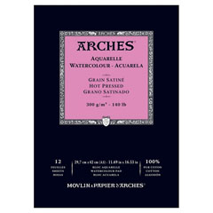 Blok ARCHES® Aquarelle Watercolour Hot Pressed - 29,7 x 42cm