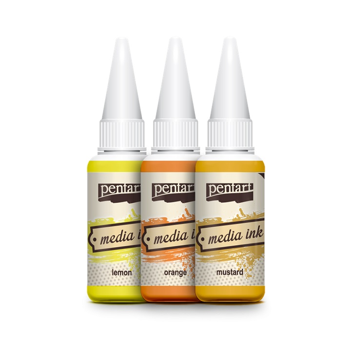 Mastilo u boji MediaInk 20ml - lemon