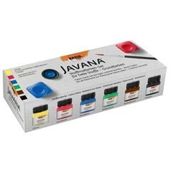 Set boja za svetli tekstil JAVANA Basic Colors 6x20 ml